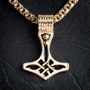 Молот Тора из золота - эмаль