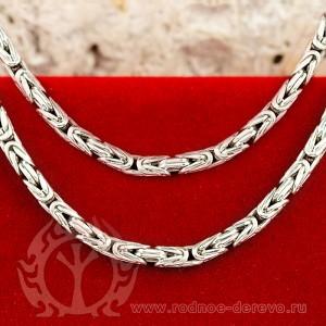 Византийская цепь из серебра толщина 2,5 мм